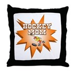 Hocky Mom Throw Pillow