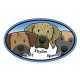 Custom Brody Kayden Spencer Oval Decal