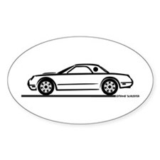 2002 05 Ford Thunderbird Hardtop Oval Decal