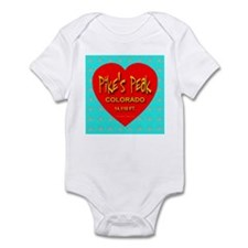 Pike's Peak Snowflake Heart Infant Creeper