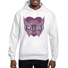 Twilight Violet Shadows Winged Crest Hoodie