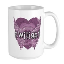 Twilight Violet Shadows Winged Crest Mug