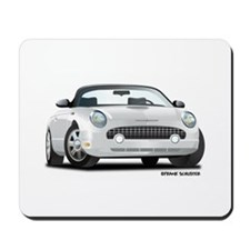 2002 05 Ford Thunderbird White Mousepad