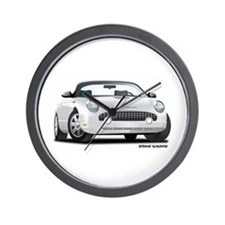 2002 05 Ford Thunderbird White Wall Clock