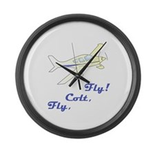 Fly, Colt, Fly Colton Harris- Large Wall Clock