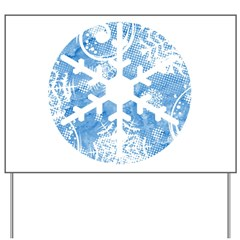 snowflake Yard Sign
