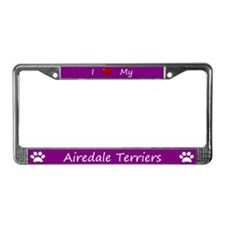 Purple I Love My Airedale Terriers Frame