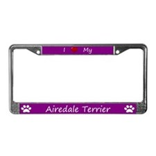 Purple I Love My Airedale Terrier Frame
