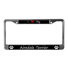 Black I Love My Airedale Terrier Frame