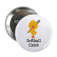 "Softball Chick 2.25"" Button (10 pack)"