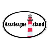 Assateague Island VA Oval Sticker (10 pk)