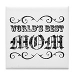 World's Best Mom Tile Coaster