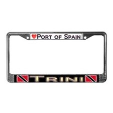 Port of Spain, TRINI - License Plate Frame