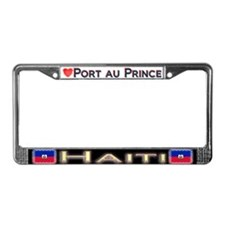 Port au Prince, HAITI - License Plate Frame