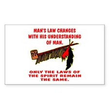 Man's Law or Spirit Law Rectangle Decal