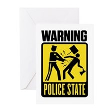 Warning: Police State Greeting Cards (Pk of 20)