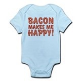 Bacon Makes Me Happy Onesie