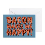 Bacon Makes Me Happy Greeting Cards (Pk of 20)