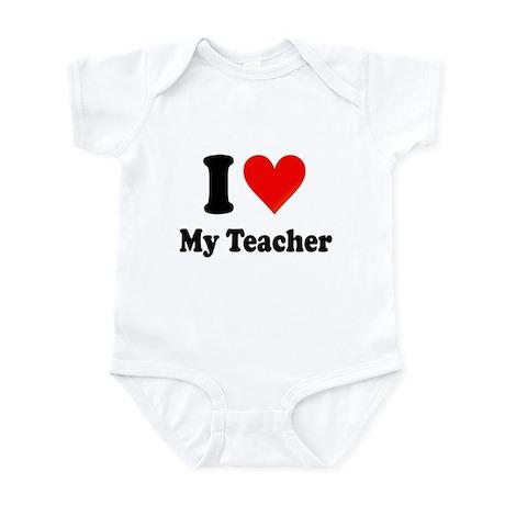 I Heart My Teacher: Infant Bodysuit