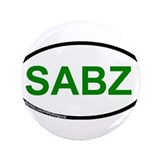"SABZ (Green Wave) 3.5"" Button"