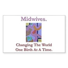Midwives Change the World Rectangle Sticker 50 pk