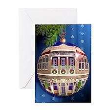 Eine Zierde Frohe Weihnachten/Blau Greeting Card
