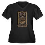 Steampunk Women's Plus Size V-Neck Dark T-Shirt