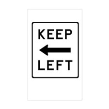 Keep Left Decal