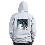 Snowman Unchains Dog Zip Hoodie
