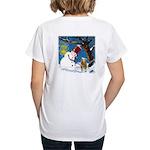 Snowman Unchains Dog Women's V-Neck T-Shirt