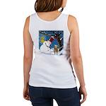 Snowman Unchains Dog Women's Tank Top