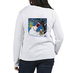 Snowman Unchains Dog Women's Long Sleeve T-Shirt