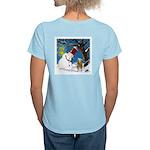 Snowman Unchains Dog Women's Light T-Shirt