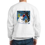 Snowman Unchains Dog Sweatshirt