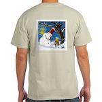 Snowman Unchains Dog Light T-Shirt