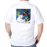 Snowman Unchains Dog Golf Shirt