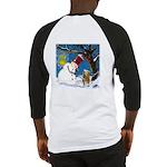 Snowman Unchains Dog Baseball Jersey