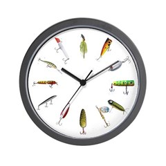 Fishing Lure Clock Wall Clock