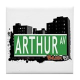 Arthur Av, Bronx NYC Tile Coaster
