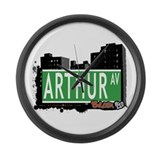 Arthur Av, Bronx NYC Large Wall Clock