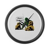 Funny Clash titans Large Wall Clock