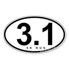 3.1 Run Oval Decal