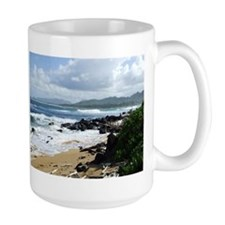 Beach at Kapaa Kauai Hawaii Mug