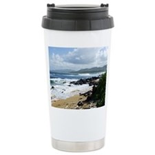 Beach at Kapaa Kauai Hawaii Ceramic Travel Mug