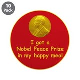 "Nobel Happy Meal 3.5"" Button (10 pack)"