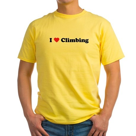 I Love Climbing Yellow T-Shirt