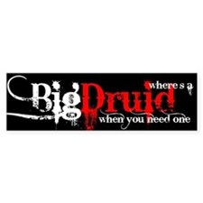 Big Druid Bumper Car Sticker