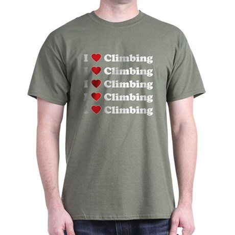 I Love Climbing (A lot) Dark T-Shirt