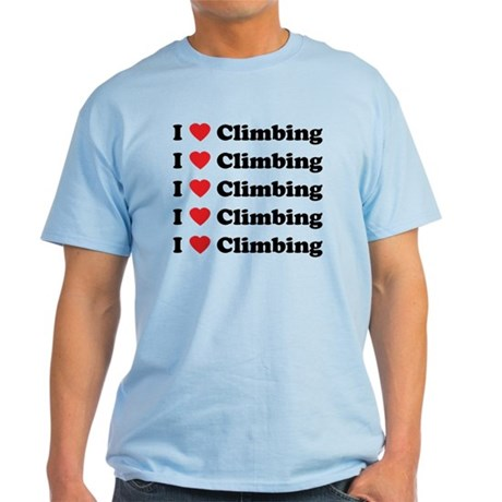 I Love Climbing (A lot) Light T-Shirt