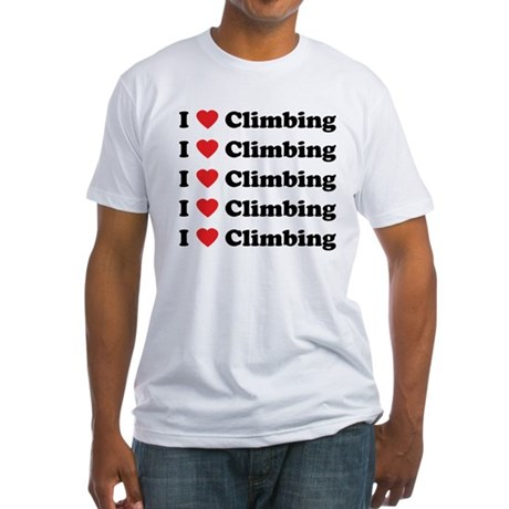 I Love Climbing (A lot) Fitted T-Shirt